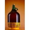 Demizson zöld m.alj 5l üveg palack