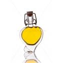 Szív 4 cl csatos díszüveg