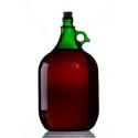 Demizson zöld 5 literes üveg palack