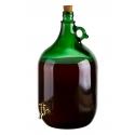 Demizson 5 literes csapos üveg palack